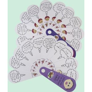 Being Worried Being Bullied Set of 4 Fans