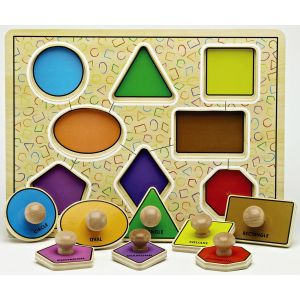 Large Peg Geometric Shape Board