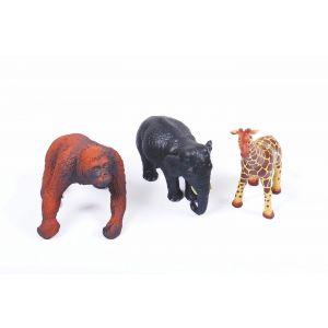 Soft Rubber Jungle Animals