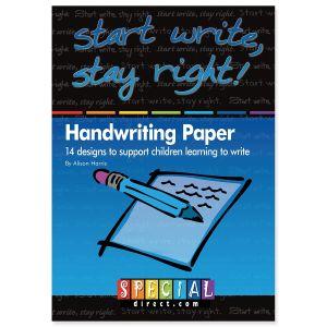 Start Write Stay Right Handwriting Paper
