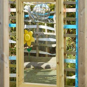 Wooden Framed Outdoor Mirror