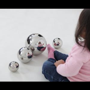 Silver sensory reflective balls