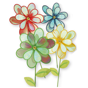 Double Flower Windmill - Set of 4