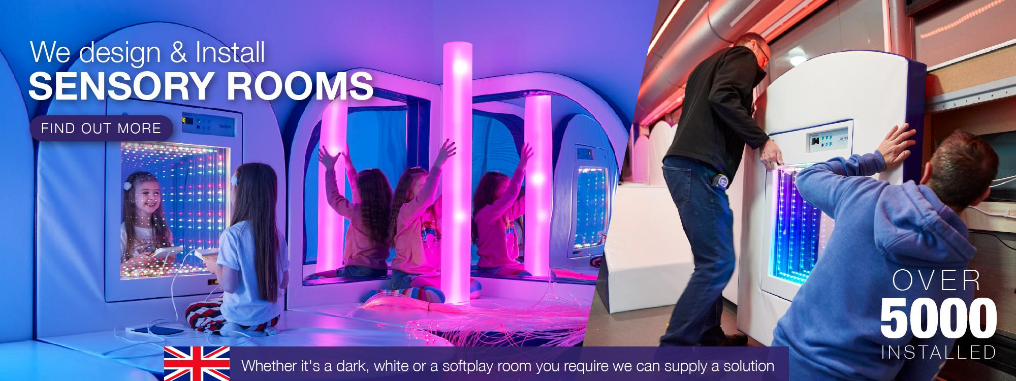 We have fitted over 500 Sensory Rooms